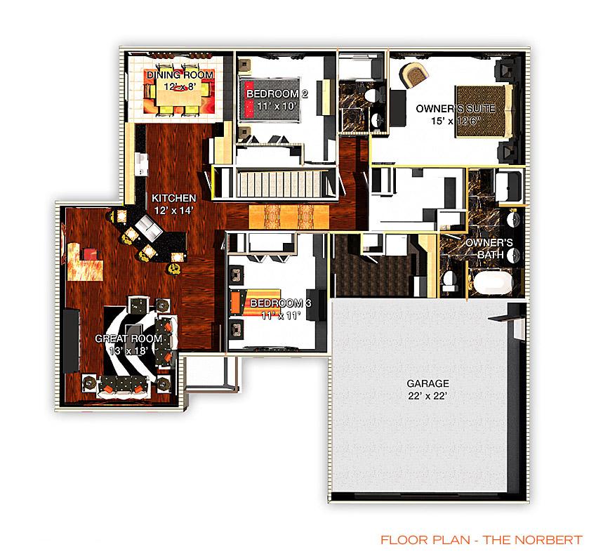Floor Plan - The Norbert